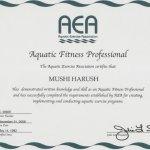 תעודת מאמנת כושר AEA
